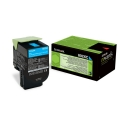 Lexmark 80C2XC0|802XC Toner-Kit cyan return program, 4.000 Seiten ISO/IEC 19798 für CX 510 de/dhe/dthe